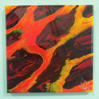 """Moltenia"" painting by Mike Palmer - 10""x10"" acrylic pour"