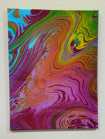 """Rainbow Mountain"" - 18""x24"" acrylic pour painting by Mike Palmer"