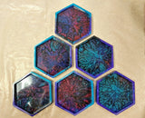 Space Coasters - Acrylic - Set of Four