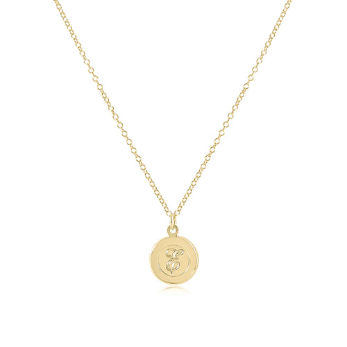"16"" Necklace Gold - Respect Gold Disc"