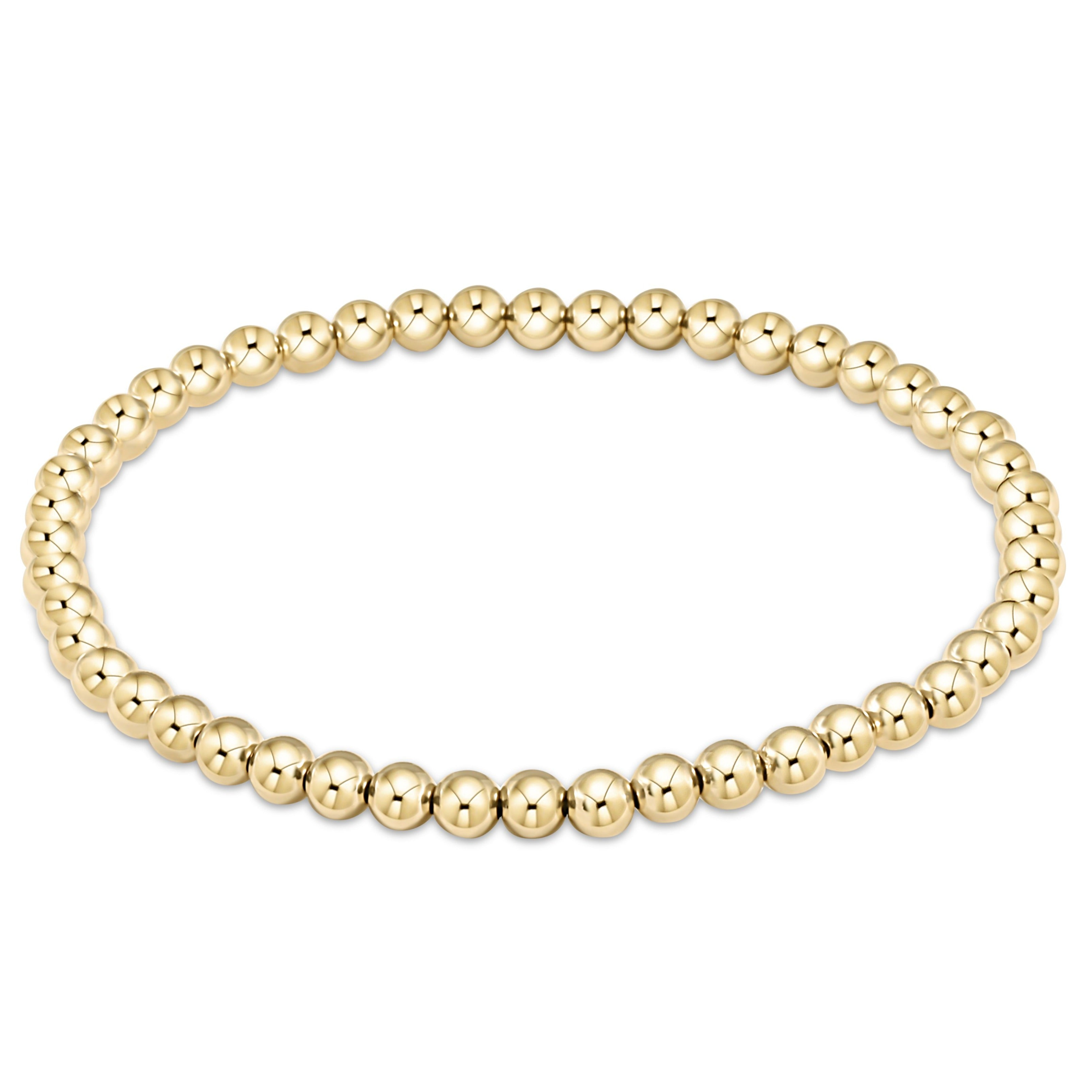 enewton extends - classic gold 4mm bead bracelet