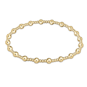 Classic Sincerity Pattern 4mm Bead Bracelet - Gold