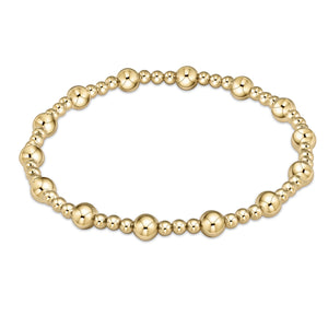 Classic Sincerity Pattern 5mm Bead Bracelet - Gold