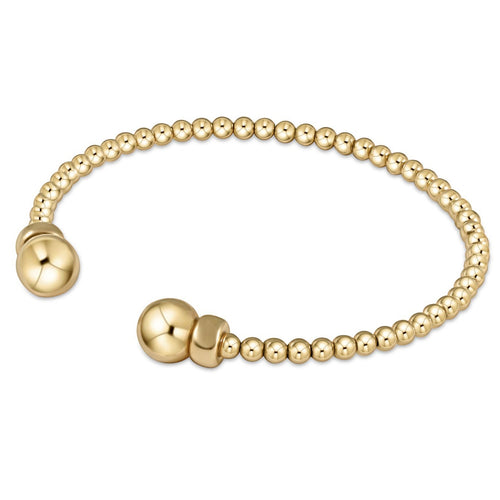 Classic Gold 3mm Bead Cuff - Gold