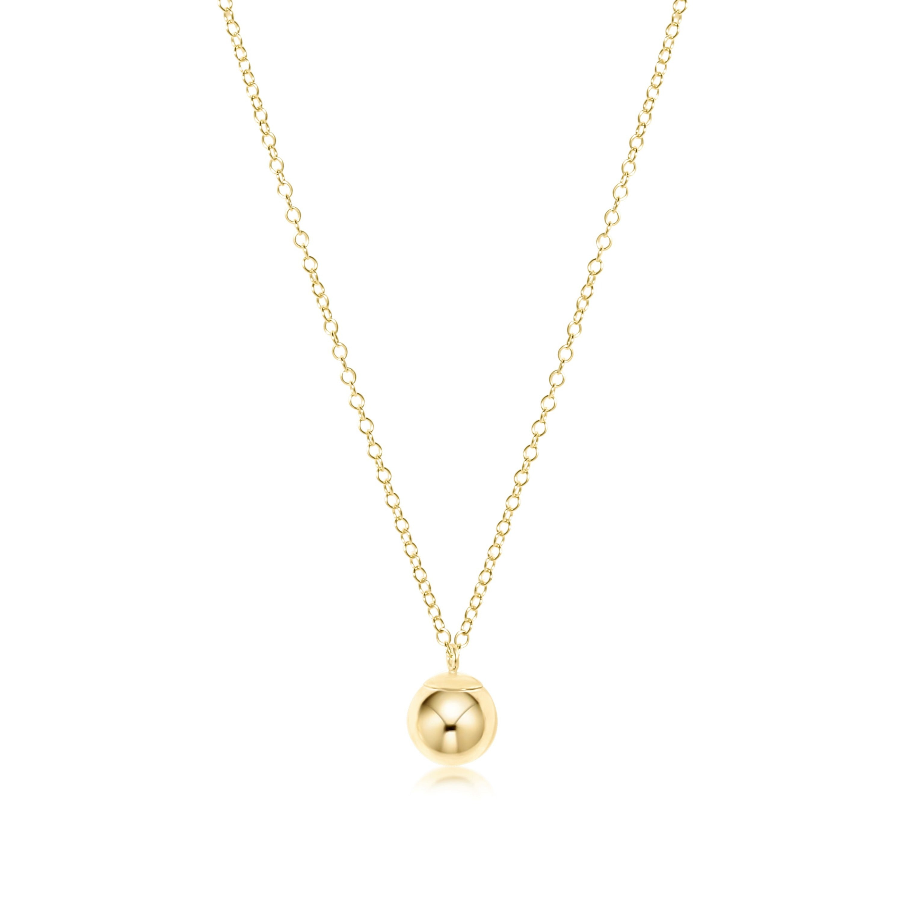 "16"" necklace gold - clarity gold charm"