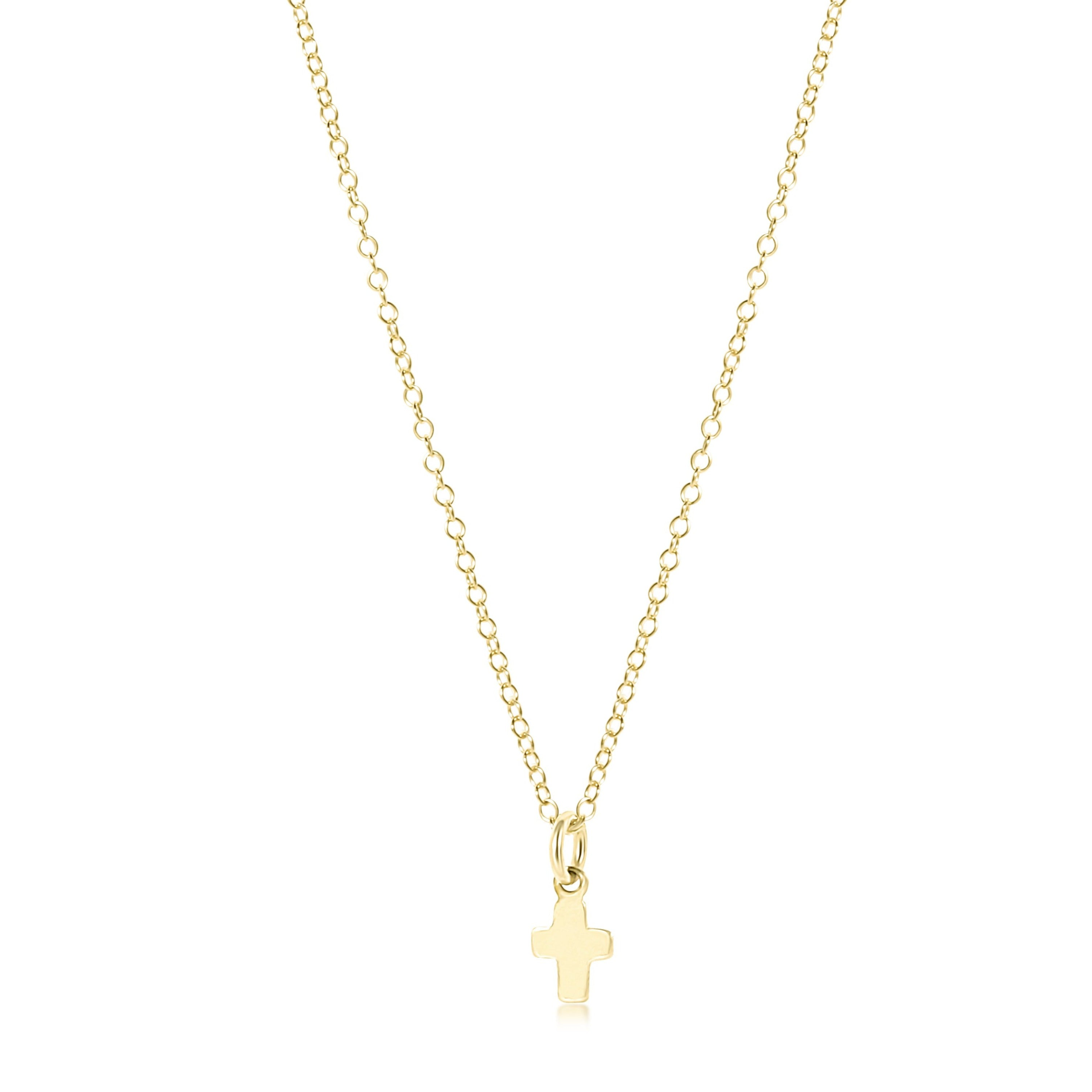 "16"" necklace gold - believe gold charm"