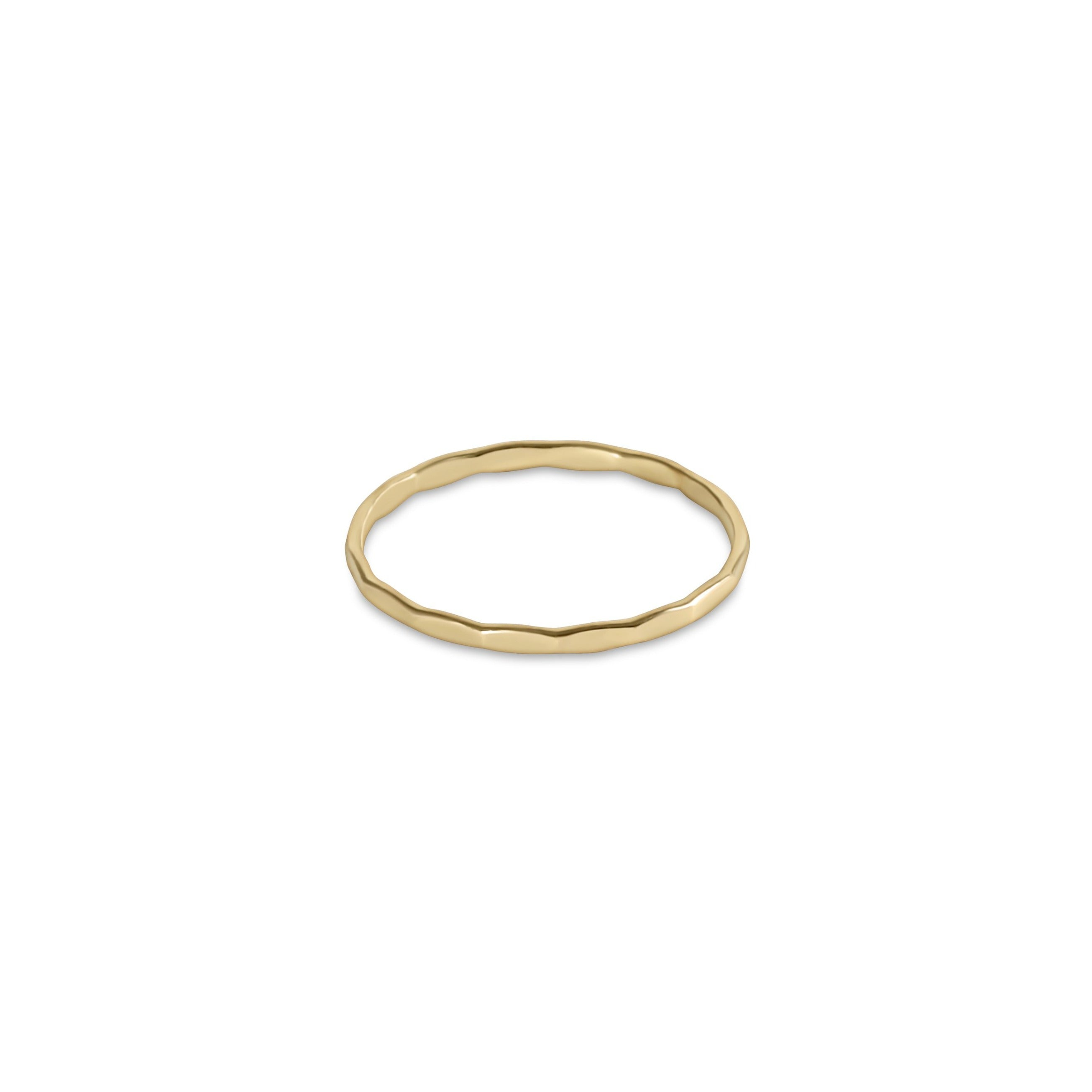 Harmony Flat Gold Ring
