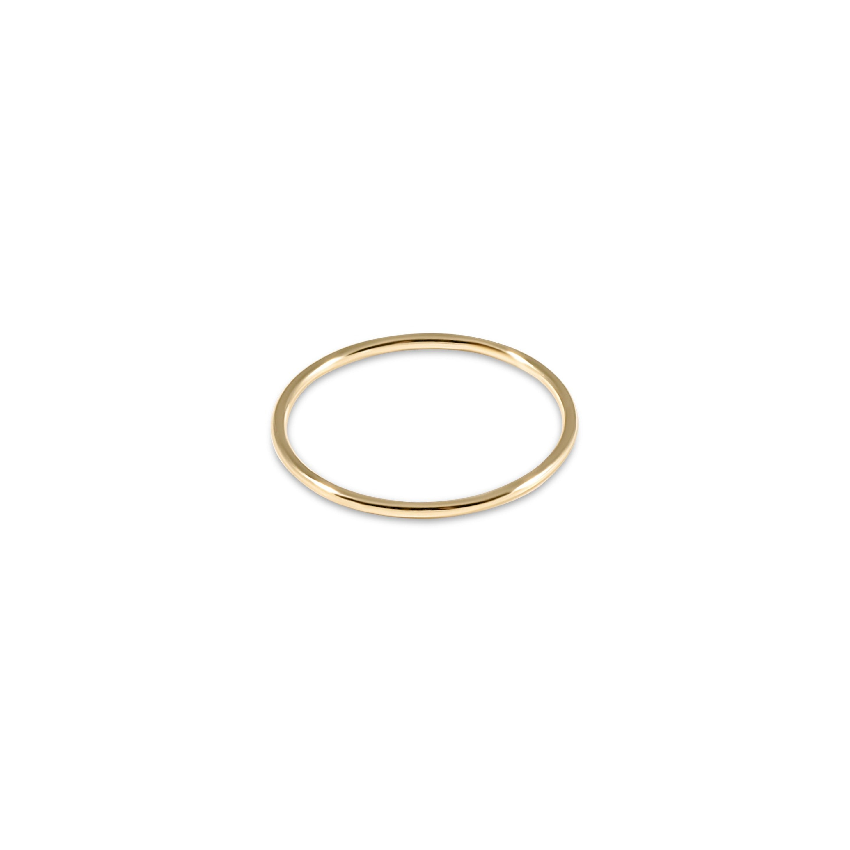 classic gold thin band ring