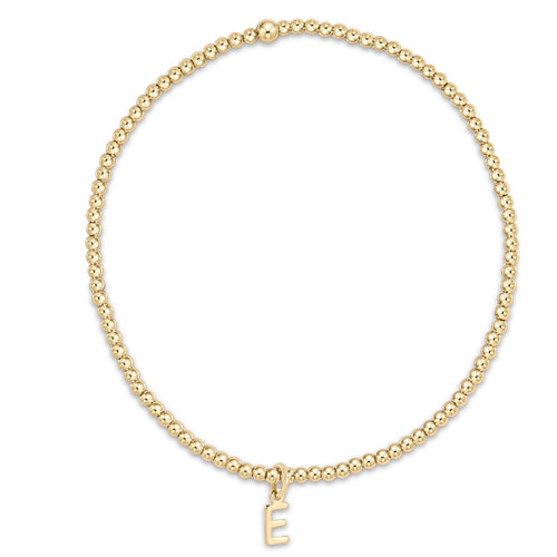 Classic Gold 2mm Bead Bracelet - Respect Gold Charm