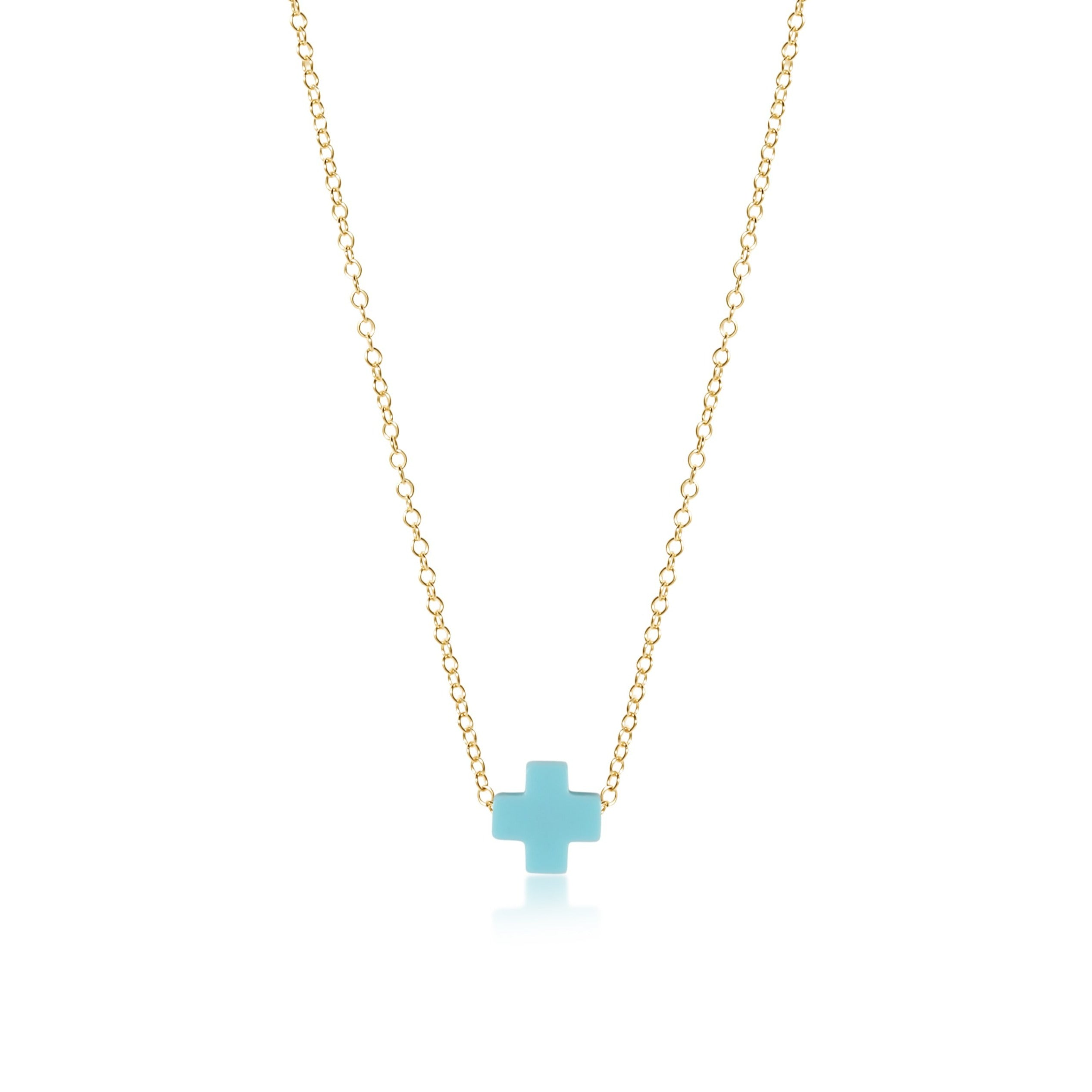 "16"" Necklace Gold - Signature Cross"