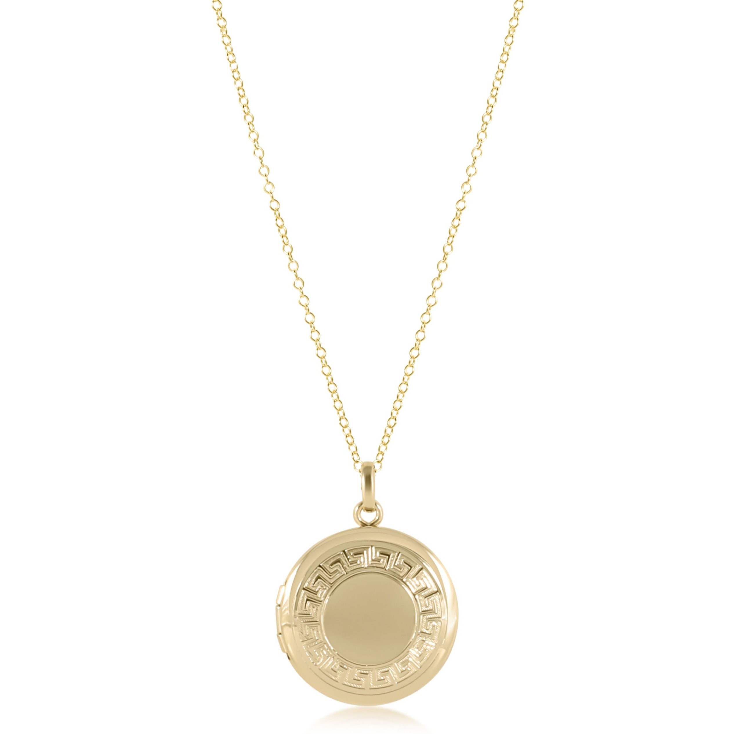 "16"" Necklace Gold - Cherish Small Gold Locket"