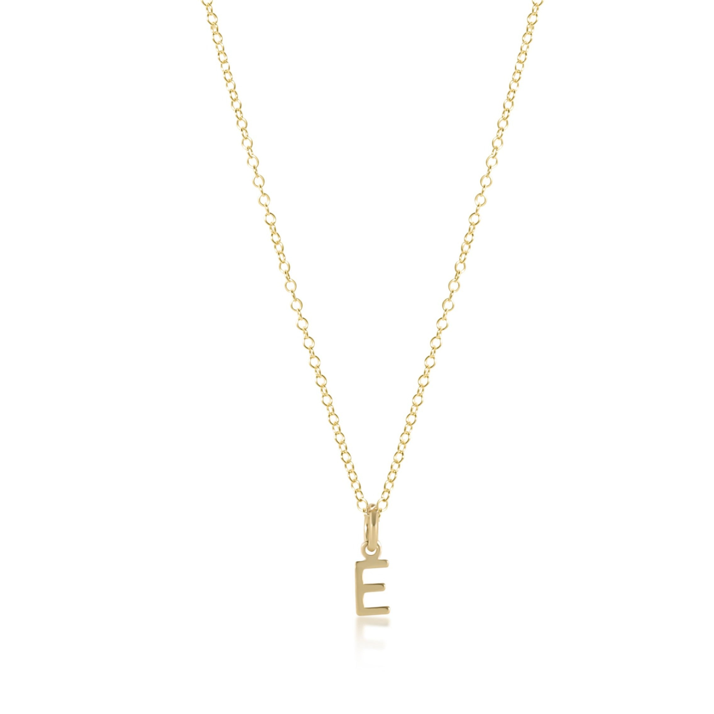 "16"" Necklace Gold - Respect Gold Charm"