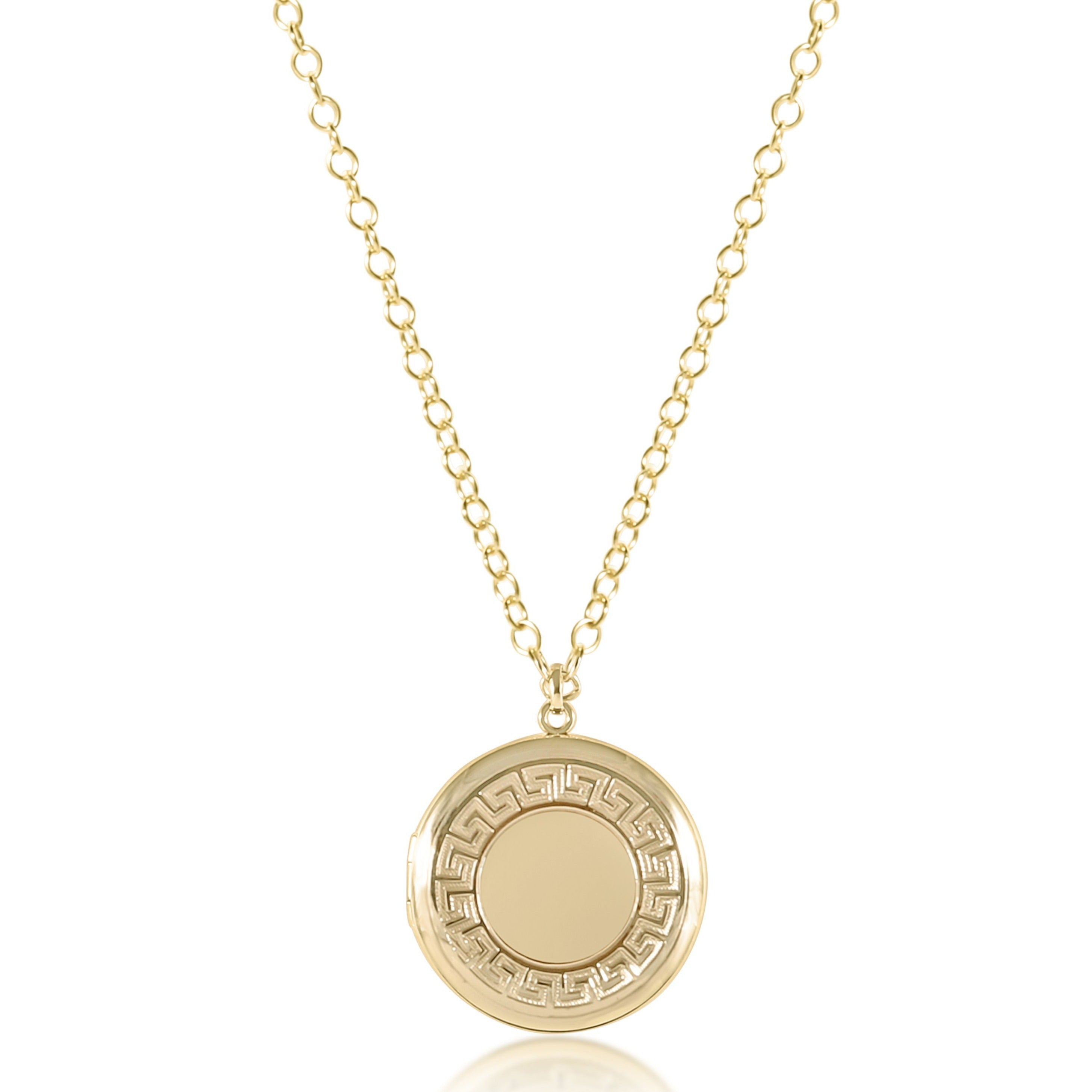 "16"" Necklace Gold - Cherish Medium Gold Locket"