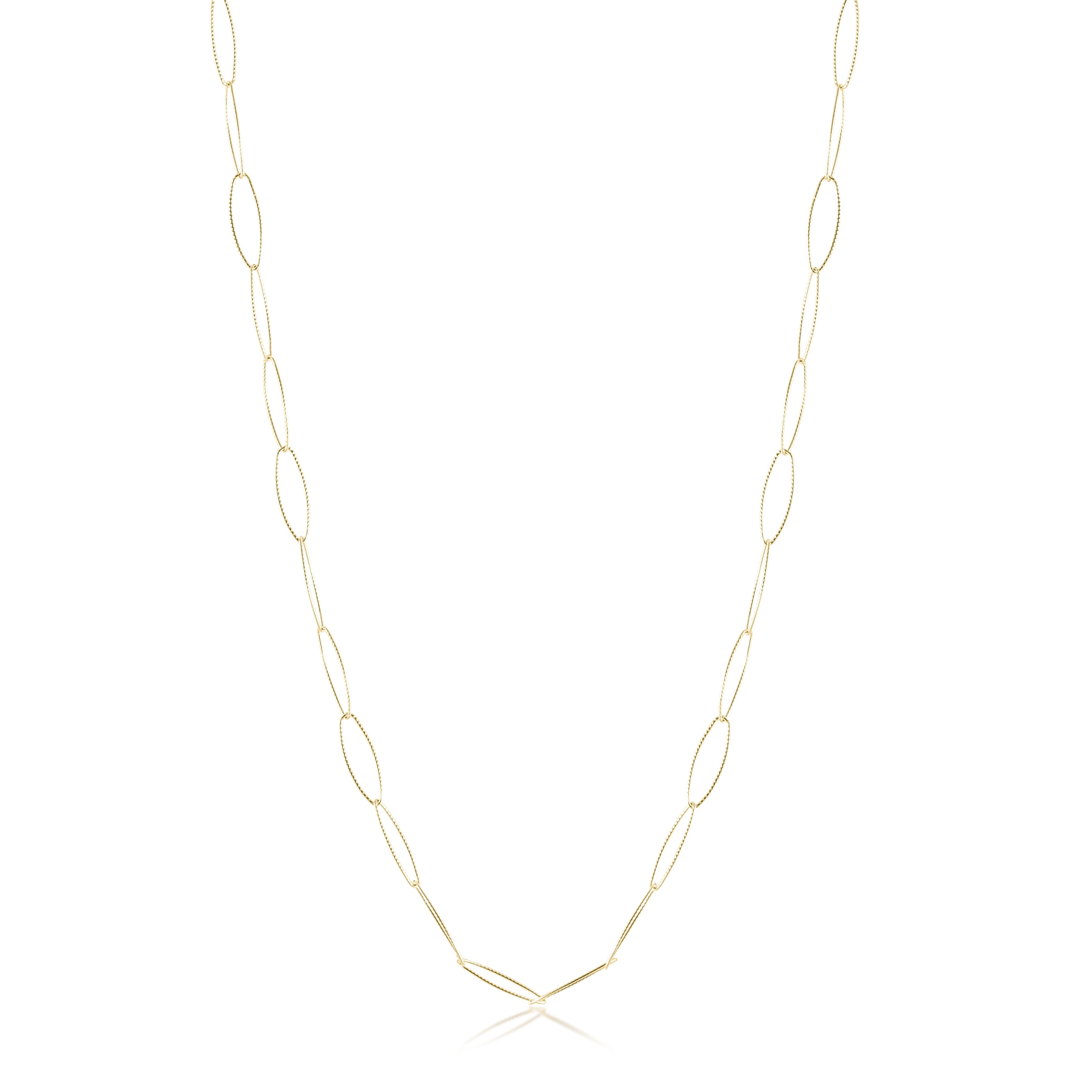 "41"" Necklace Classic Chain - Gold - Textured"
