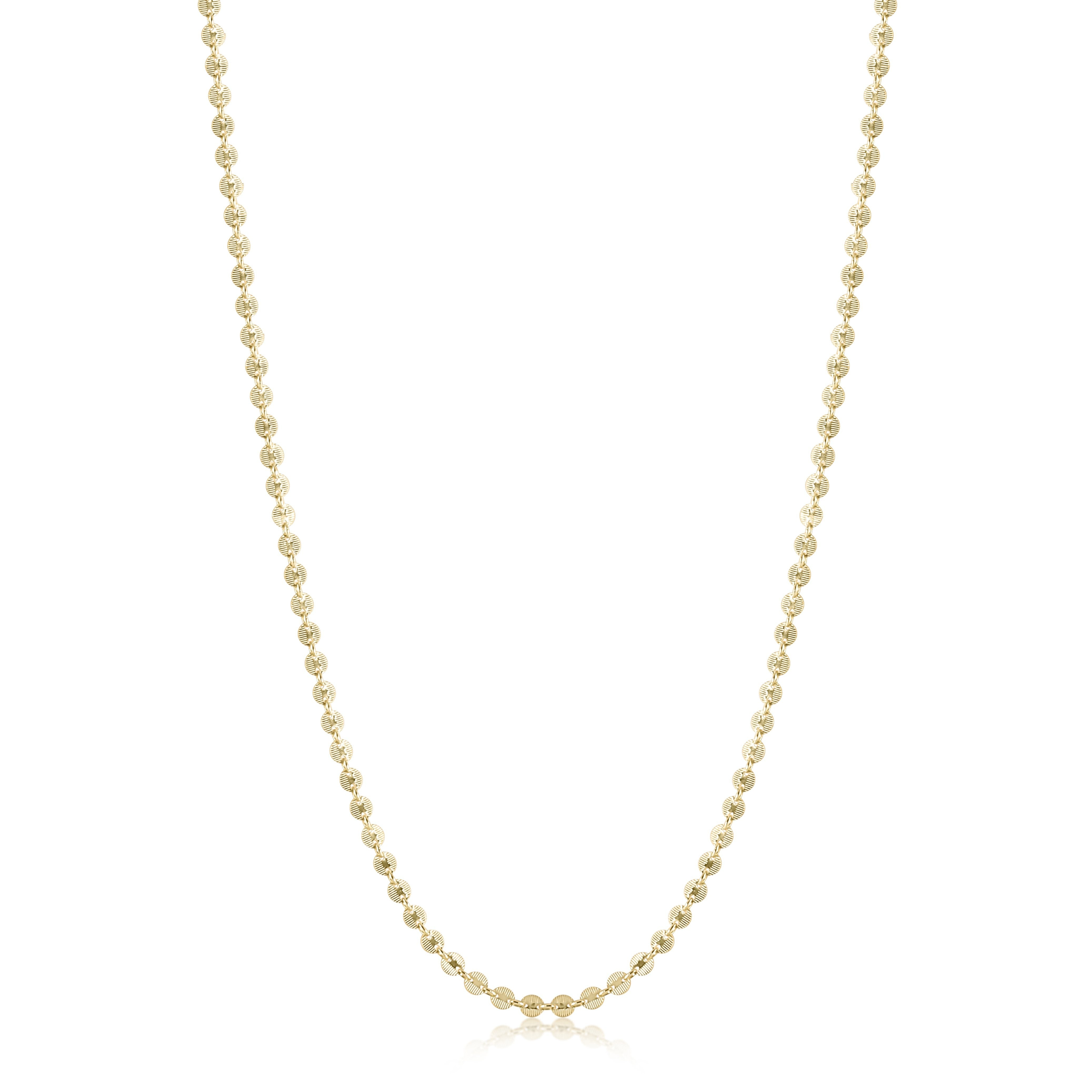 "41"" necklace infinity chic chain - gold"