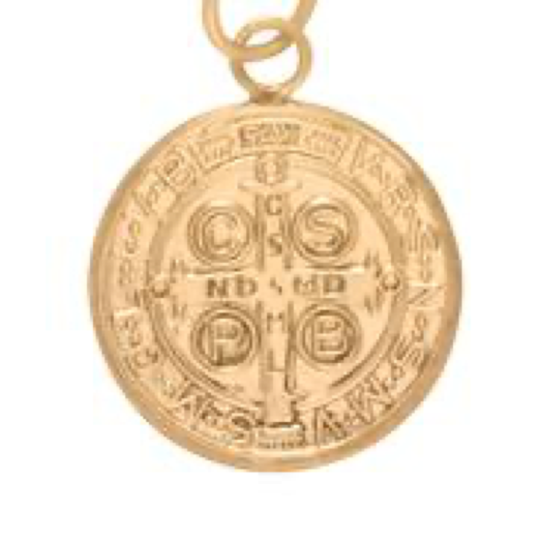 "16"" necklace gold - blessing large gold charm"