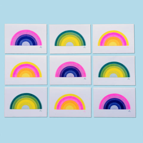 Mini Rainbow A6 Cards - 3 Pack
