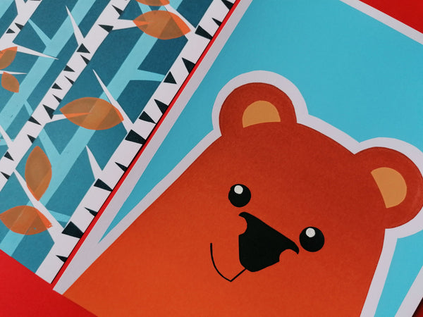 Seconds Bear A4 Screen Print