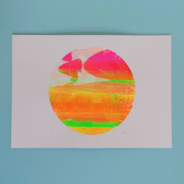 Seconds Planet A3 Screen Print