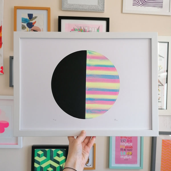 Sherbet Black A3 Screen Print