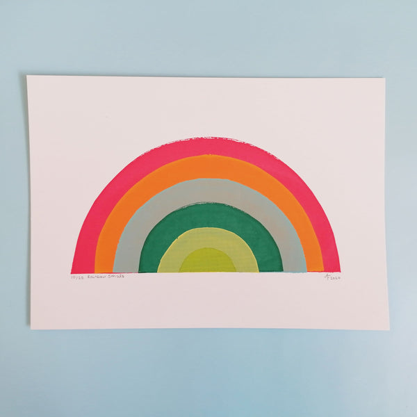 Rainbow A4 Screen Print
