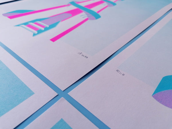 Helter-Skelter A3 Risograph Print