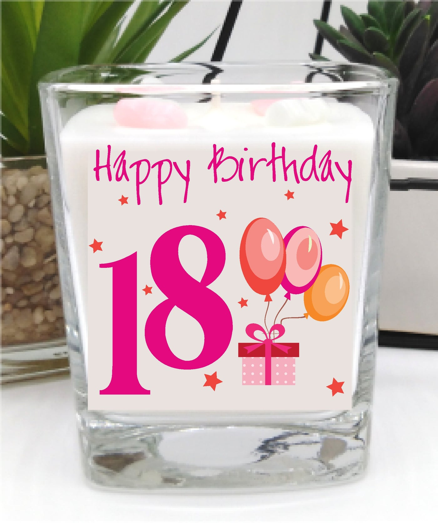 18th Birthday luxury hand poured candle