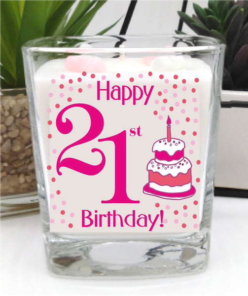 21st Birthday Candle