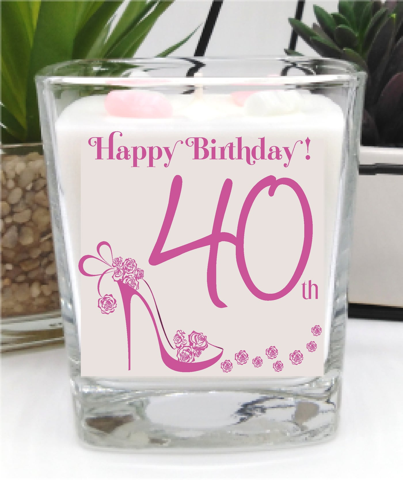 40th Birthday luxury hand poured candle