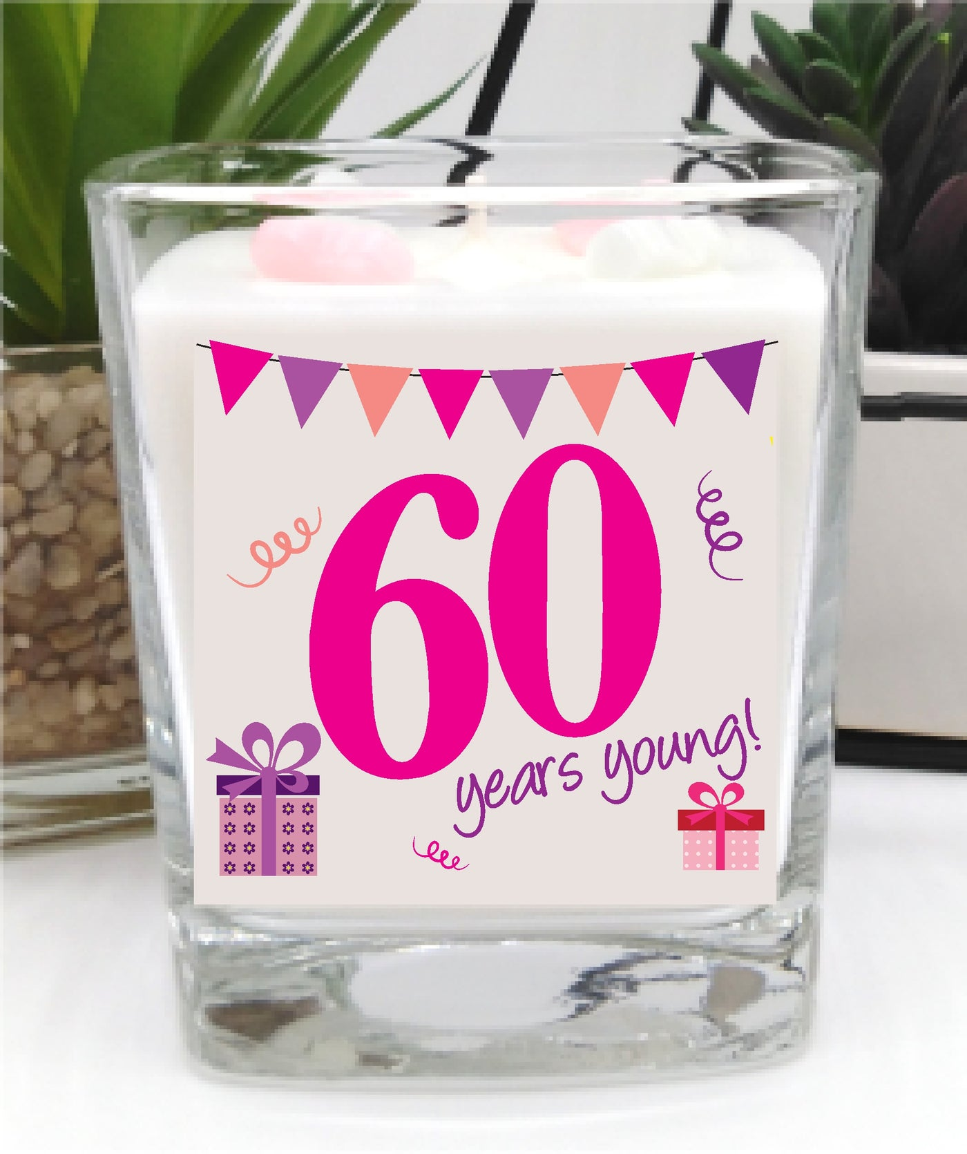 60th Birthday luxury hand poured candle