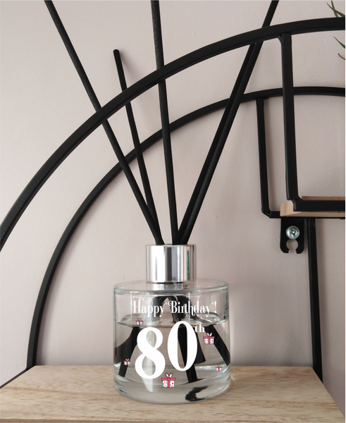 80th Birthday Reed Diffuser - Unusual gift!