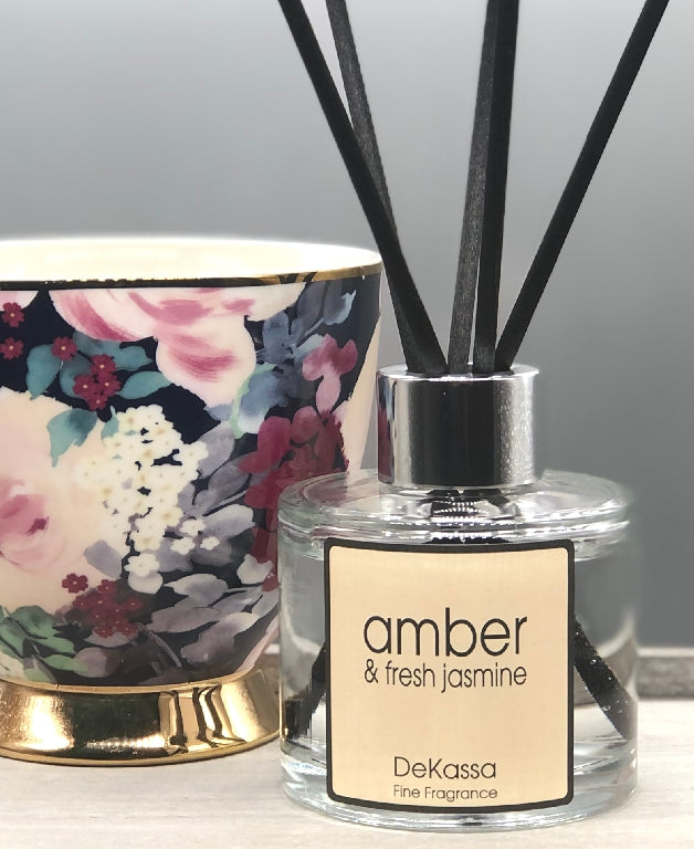 Amber & Fresh Jasmine Luxury Reed Diffuser