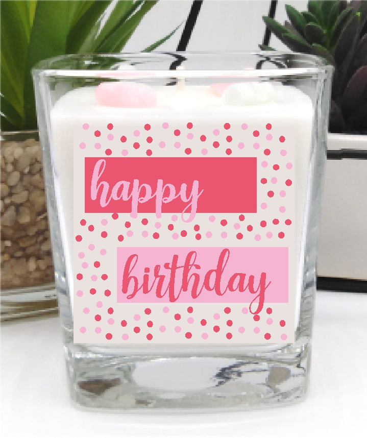 Happy Birthday luxury hand poured candle