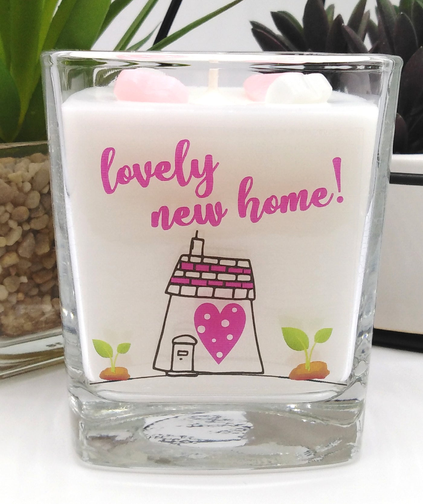 Lovely New Home luxury hand poured candle