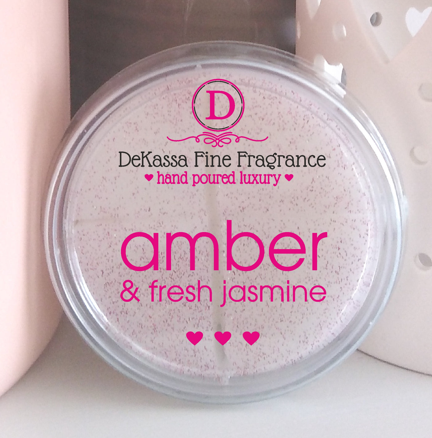 Amber & Fresh Jasmine Scented Wax Melt - 1 free with every 1 you buy!