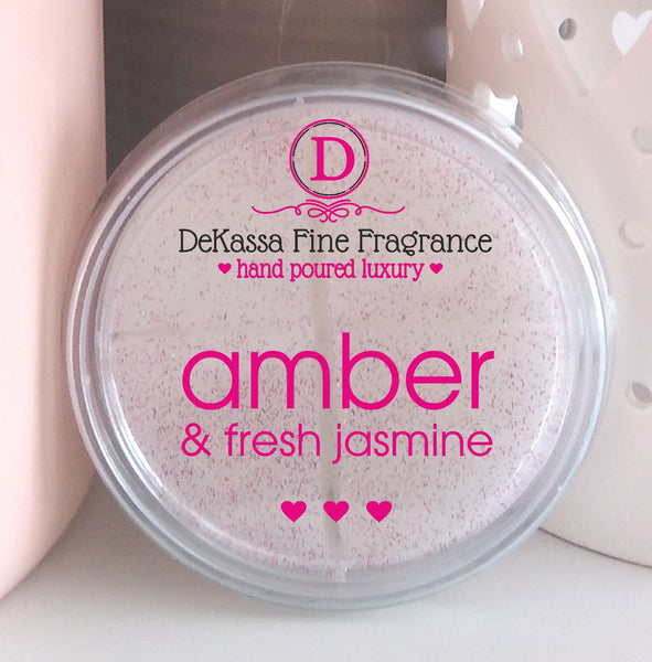 Amber & Fresh Jasmine Highly Scented Wax Melt - up to 40 burning hours!