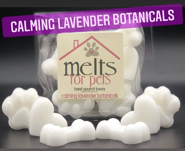 calming lavender botanicals, luxury pet friendly wax melts - pack of 6!