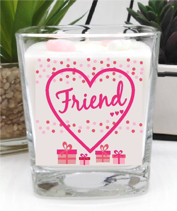 Friend - Luxury Square Hand Poured Candle