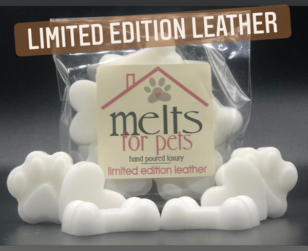limited edition leather, luxury pet friendly wax melts - pack of 6!