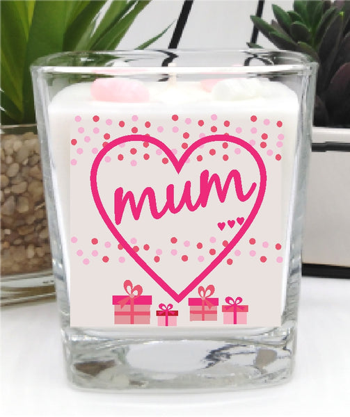 Mum - Luxury Square Hand Poured Candle