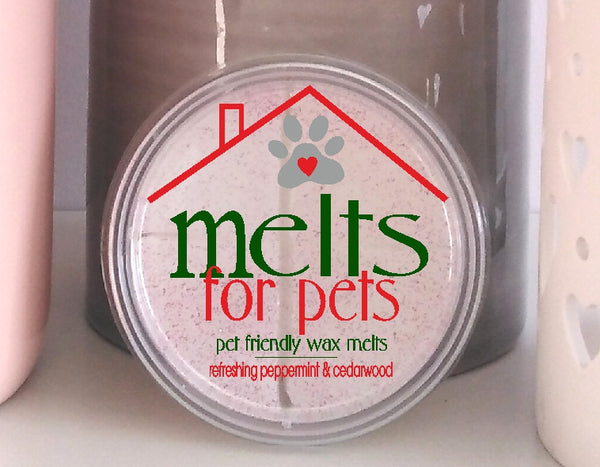 refreshing peppermint & cedarwood, luxury pet friendly wax melt wax pod - 1 free with every 1 you buy!