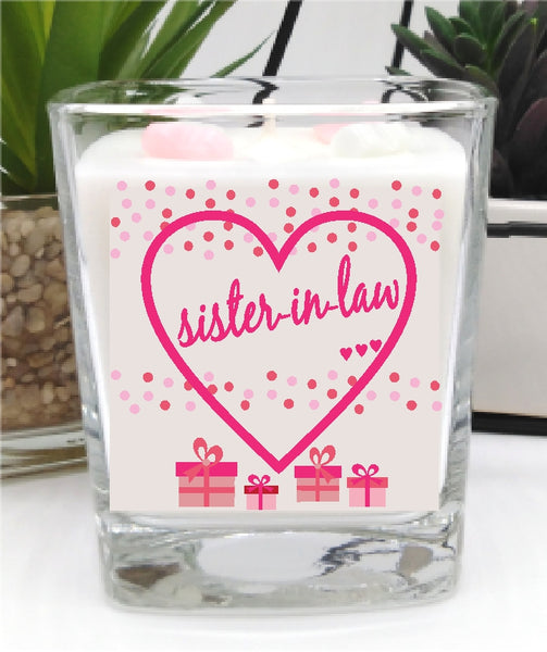Sister-In-Law - Luxury Square Hand Poured Candle