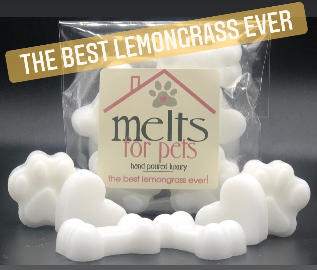 the best lemongrass ever! luxury pet friendly wax melts - pack of 6!