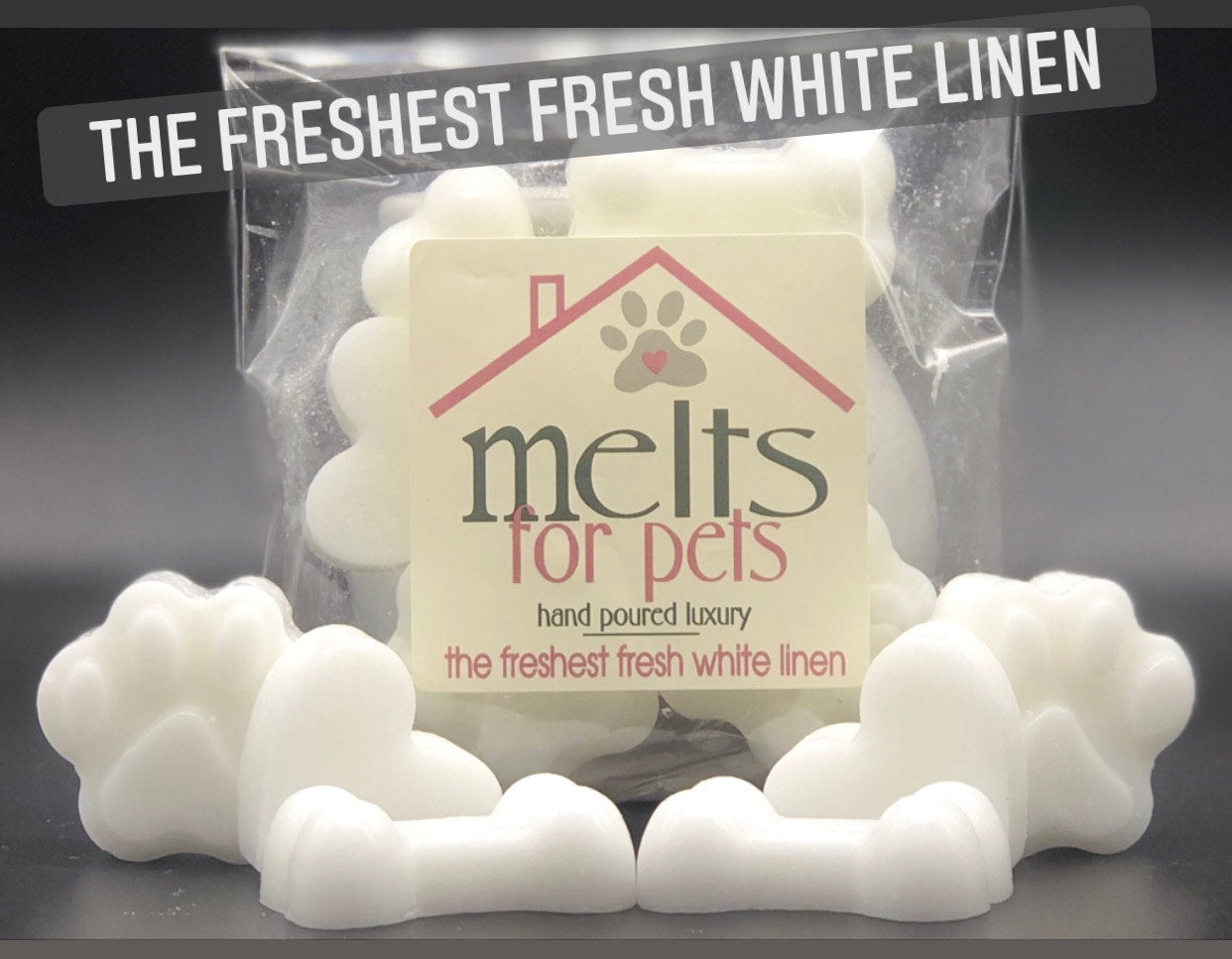 the freshest fresh white linen, luxury pet friendly wax melts - pack of 6!