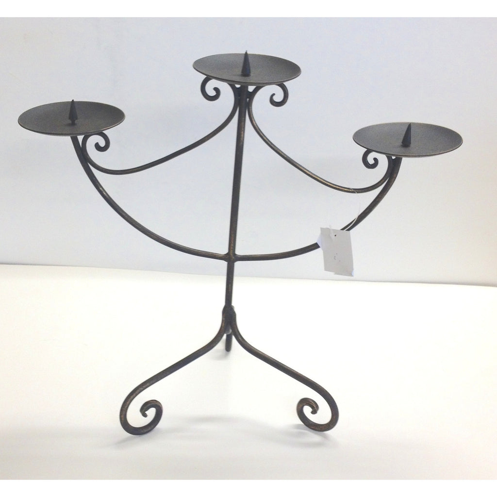 Black Iron Candle Holder 3 Pin (GST Included)