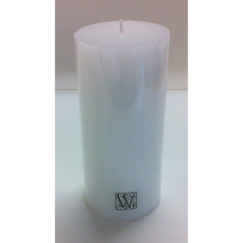 Candle 7 x 15cm Smooth  Cylinder - White (GST Included)