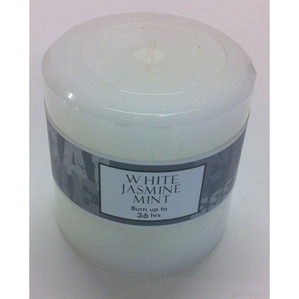 White Jasmine Mint scented candles 70 x 70mm (GST Included)