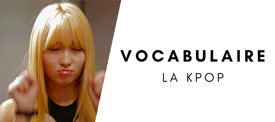 Vocabulaire de la kpop