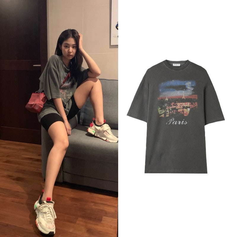T Shirt Paris Jennie Blackpink