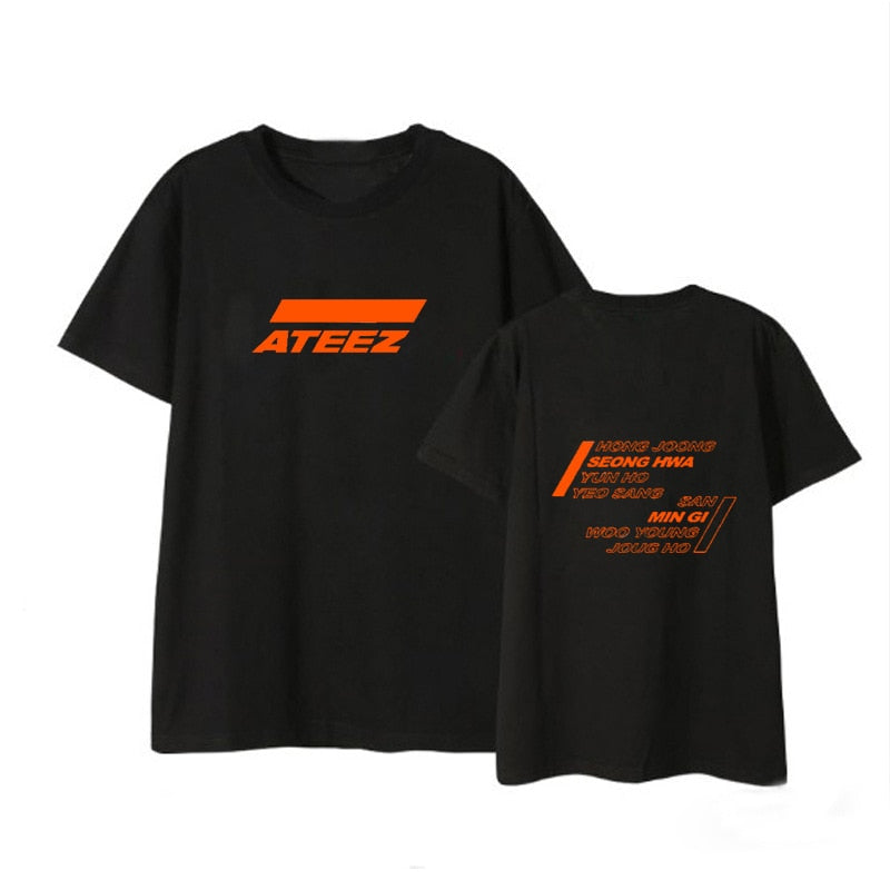 T Shirt Ateez Orange